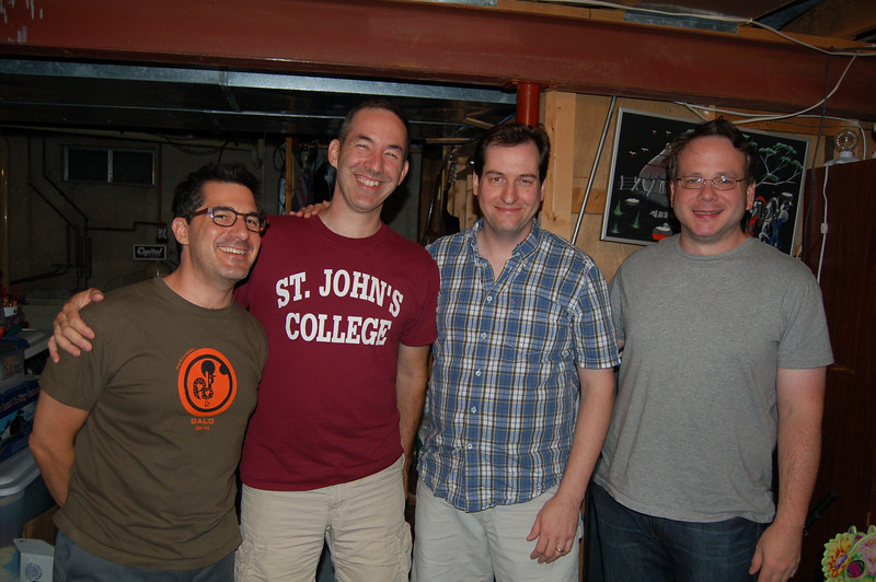 The four podcasters