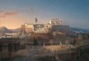 Idealized reconstruction of the Acropolis in Athens, Leo von Klenze, 1846