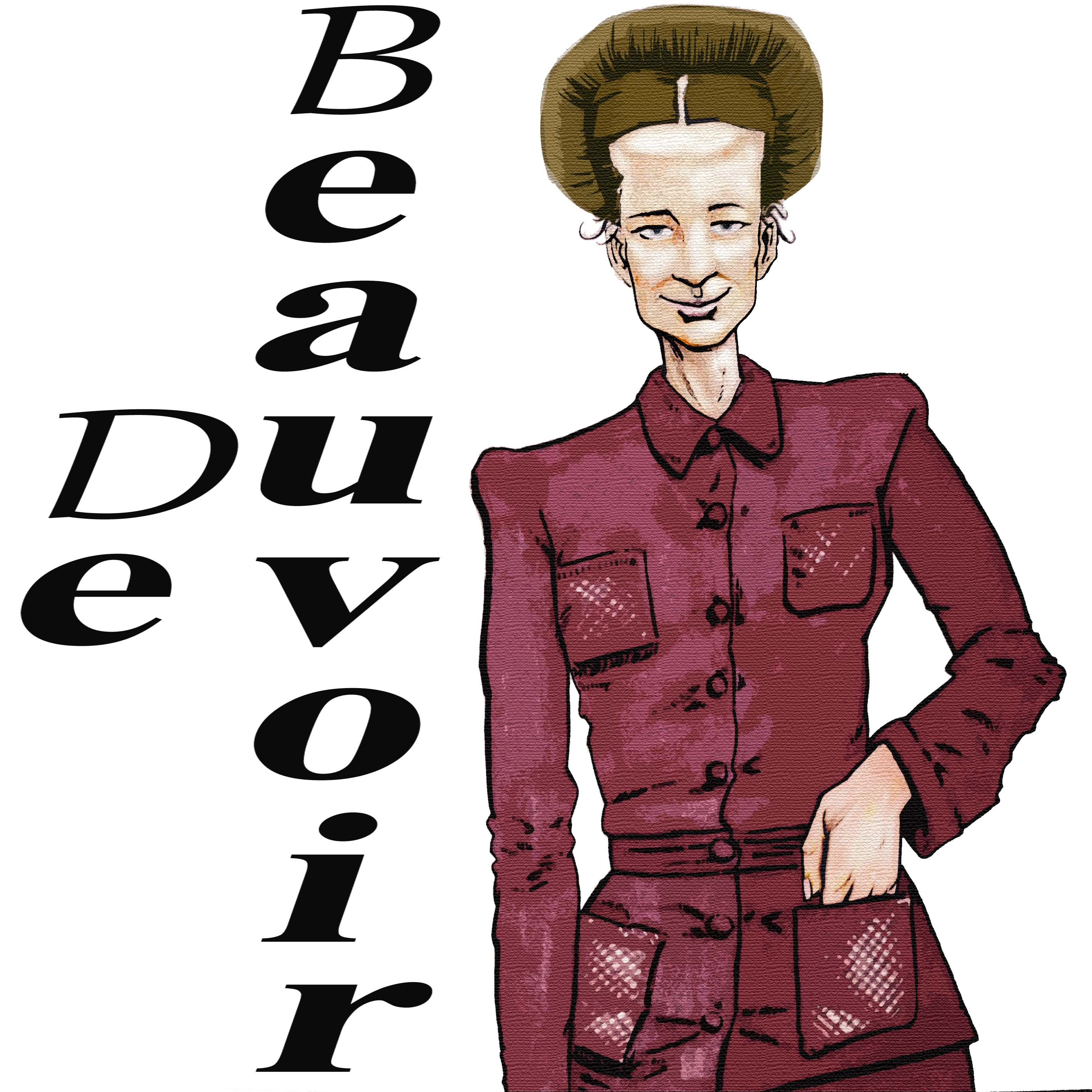 Simone de Beauvoir by Solomon Grundy