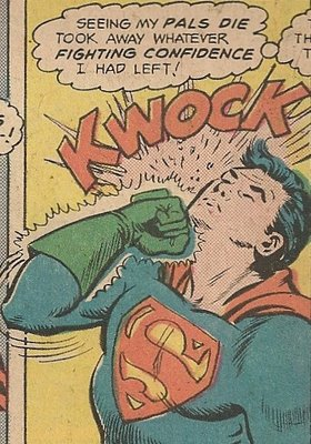 Superman hitting himself
