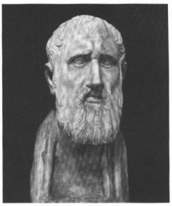 Zeno of Citium. Stoicism's modern apologists claim these philosophers weren't really solemn and emotionless, but their statutory says otherwise.
