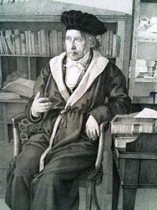 Hegel sitting