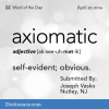 "Partially Naked Self-Examination Music Blog: ""Axiomatic"""